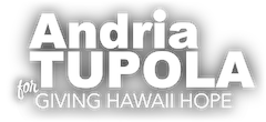 Andria Tupola for Governor of Hawaii 2022 – Vote Tupola Logo